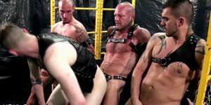 Group Barebacked Guy Cums
