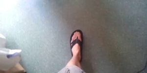 Wanking In Flipflops
