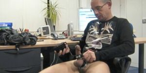 Exhibitionist At The Office.