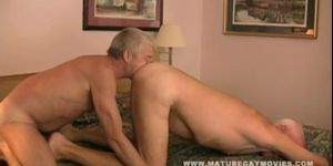 Silverdaddy Fucking His Mature Friend Bareback