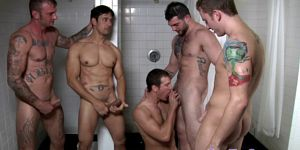 Rafael Alencar And Pals Fuck In Shower