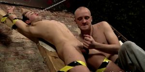 Nude Boys Mutual Masturbation Spitting Cum In A Slaves