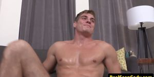 Muscular Stud Jizzing Off His Perfect Bigdick