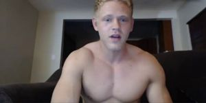 Bisexual Muscle Boy Cums All Over His Body And Eats It
