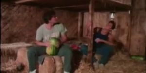 Vintage Guys Fuck Watermelon And Themselves