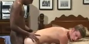 Black Cock Inside Hot White Man Ass, 8