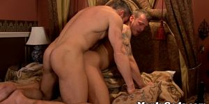 Sixpack Stud Asspounded While Jerking Cock