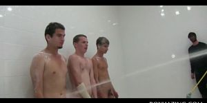 Naked College Boys Hazed In The Shower