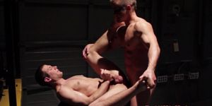 Closeup Gaysex Action With Masked Hero Stud