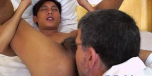 Asian Patient Receives An Enema From Doc