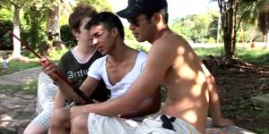 Three Teen Gay Latinos Start Fooling Around During Fish