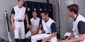 Baseball Studs Analfucking In Lockerroom