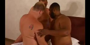 Hot Chubby Interracial Threesome