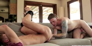 Hunk Ian And Zane In A Savage Fuck Fest In The Living R