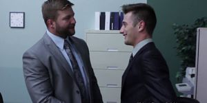 Ripped Officehunk Pounds Nipplepierced Newbie