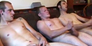 Straight Twink Trio Cumming Together