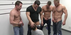 Ripped Hunks Sucks Thick Cocks In Police Line Up