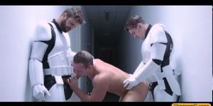 Lukes Ass Is Gangbanged By The Troopers With Big Dicks