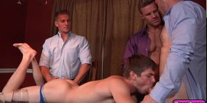 Naughty Group Gay Sex With A Twink And Three Men