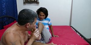 Asian Twink Orally Pleasured By Dilf