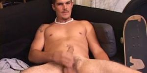 Dick Stroking Lucky Shoots Twice