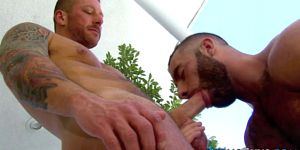 Muscly Jizzed Gay Blows