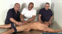 Three Man Muscle Grope