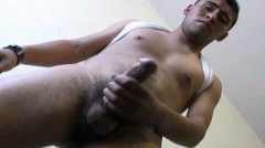 Hot Gay Mexican Guy Strokes His Uncut Cock This Papi Loves To Fuc