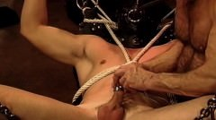 Simultaneous Sounding Plus Electro Stim On Hot Young Muscle Stud.