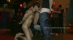 Sexy Gay Model Bound Tight And Gifted To Gang Of Horny Men That F