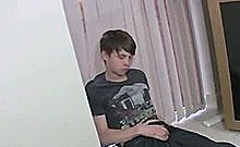 British Young Teen Alone In His House Feeling His Body