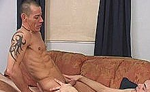 Twink Barebacking Older Dude On Couch