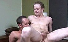 Pale College Twink Jumping Up And Down A Hard Cock