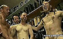 Strong Gay Ass Abused In Hot Group Sex With Kinky Boys Immobilized In Cuffs And Chains In Slavery