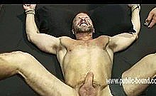 Strong Men Gather In Club To Taste Body Of Strong New Sex Slave Fucking His Mouth In Rough Blowjob