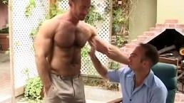 Hairy Muscle Studs Fuck Outdoors