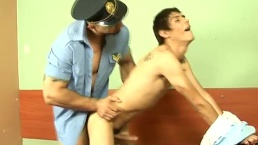 Twink Getting His Tight Butt Fucked By A Cop