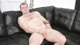 Hairy Chested Man Beating His Meat