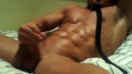 Horny Muscle College Boy Jerks Off And Cums On Cam