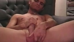 Sexy Blonde Twinks Jerks His Cock