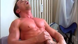 Gym Trainer Gets Wanked His Big Cock By A Client In Spite Of Him !