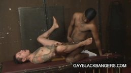 Max Sanchez: Tattooed Latino Daddy Gorging On A Big Black Dick