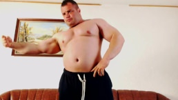 Romanian Bodybuilder Marcu Ionel Naked Workout On Cam