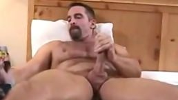 Hairy Daddy Jerks Off