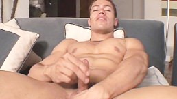 Latino Hunk Jerking Off His Nice Cock