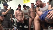 Punk At The Laundromat Gets Fucked