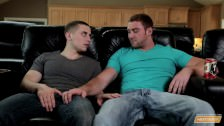 Hot Bromance In The Locker Room