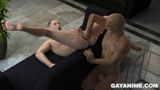 Tied Up 3d Hunk Fisted And Sucking Cock