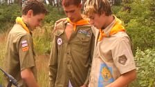 Young Boys Play Boyscouts