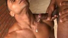 Cum On My Chest After Muscular Asshole Sex